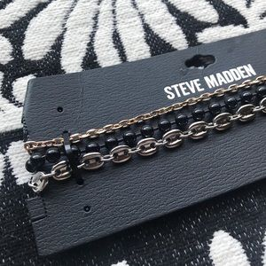 NWT Steve Madden Womens 3PC Chain Choker Set